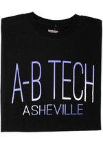 A-B TECH UNIVERSITEE TEE - THIN FONT-BLACK