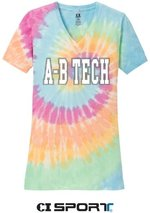 A-B TECH LADIES TEE-PASTEL TIE DYE