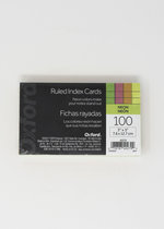 OXFORD INDEX CARDS 3 X 5 RULED-ASST. NEON GLOW