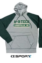 A-B TECH VINTAGE WASHED HOODIE - GREY/FOREST HEATHER
