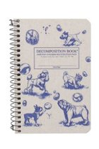 DECOMPOSITION NOTEBOOK-4 X 6-DOGS AND BUBBLES-LINED
