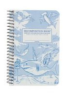 DECOMPOSITION NOTEBOOK-4 X 6-FLYING SHARKS-LINED
