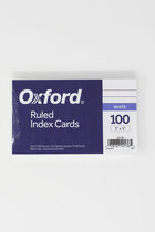 OXFORD INDEX CARDS 3 X 5 RULED-WHITE